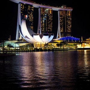 Marina-Bay-Sands-Hotel-and-ArtScience-Museum-in-Singapore-by-night