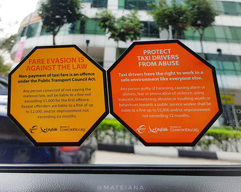 Singapore-rules-and-laws---taxi-fare-evasion-and-fines-for-disrespecting-taxi-drivers