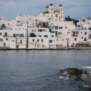 Cyclades architecture in Naousa, Paros