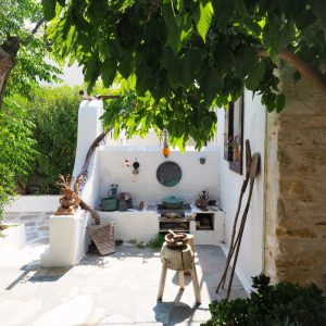 Ethnographic display at Svoronos Bungalows, Naousa, Paros