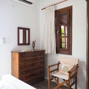 Interior style - bedroom corner at Bungalows Svoronos, Naousa, Paros