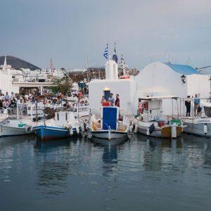 Old Port of Naoussa, Paros, blue hour