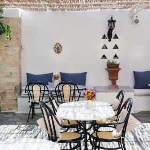 Summer Terrace at Svoronos Bungalows, Naousa, Paros