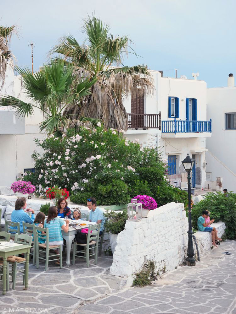 Summer vibes in Old Town Naoussa, Paros, Greece
